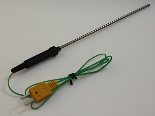 """6"""" Stainless Steel K-Type Thermocouple Temperature Sensor for Digital Thermometer TC-7"""