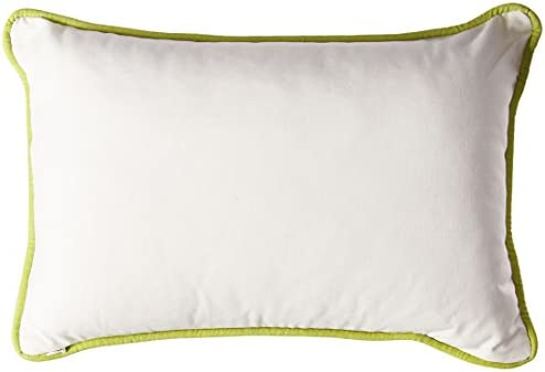 White Ease Echo Sardinia 12-Inch by 18-Inch Polyester Fill Pillow