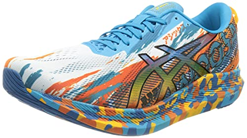 Asics Gel-Noosa Tri 13, Road Running Shoe Hombre, Digital Aqua/Marigold Orange, 42.5 EU