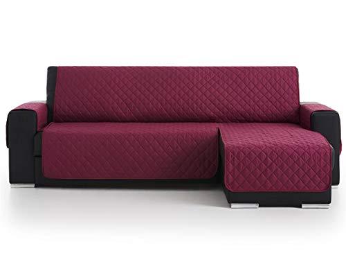 Lanovenanube Belmarti - Funda Chaise Longue Acolchado - Práctica - Izquierda 240 cm - Color Malva C09