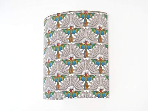 Applique murale tissu motifs perroquets ara exotiques - demi cylindre - demi-lune - idée cadeau- tropical - cadeau crémaillère-anniversaire - taille personnalisée