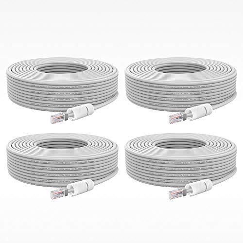 ANNKE 4X 30mNetzwerkkabel, Ethernet Kamera Kabel, LAN & Patch Kabel,Arbeiten Sie für PoE IP Kamera und Überwachungskamera Set für die Energie und Datenübertragung,Router etc