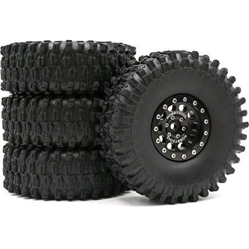 4pcs RC 1.9 Super Swamper Crawler Tires Tyre Height 120mm & Aluminium 1.9...