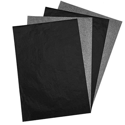 DXIA 100 Hojas Papel Transfer de Carbón, A4 Negro Papel Carbon, Papel de Transferencia de Carbono, Papel Transferde Grafito para Madera, Papel de Oficina, Lienzo, Metal Pintado, Superficies de Arte