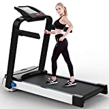 CRYPIN Running Machine Electric Folding Treadmill LED Touch Display Speed ​​up to 10km/h Exercise Treadmill Running Home Gym Office Use