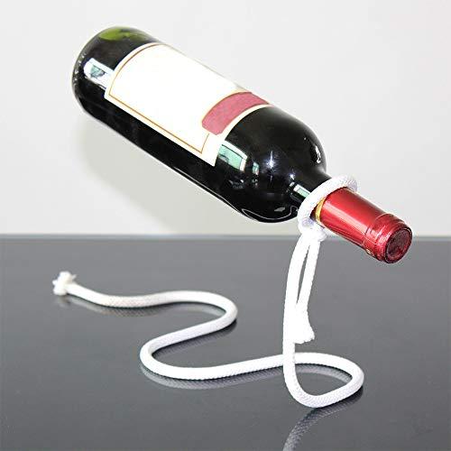 Creative Craft Craft Wine Rack Magic Suspension Alcool Bouteille Porte-bouteille Blanc Rope Bouteille de vin Home Cuisine Bar Accessoires