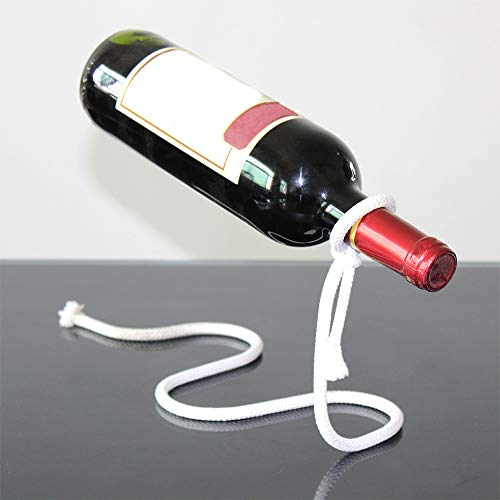 Creative Craft Craft Wine Rack Magic Suspension Alcool Bouteille Porte-bouteille Blanc Rope Bouteille de vin Home Cuisine Bar Accessoires