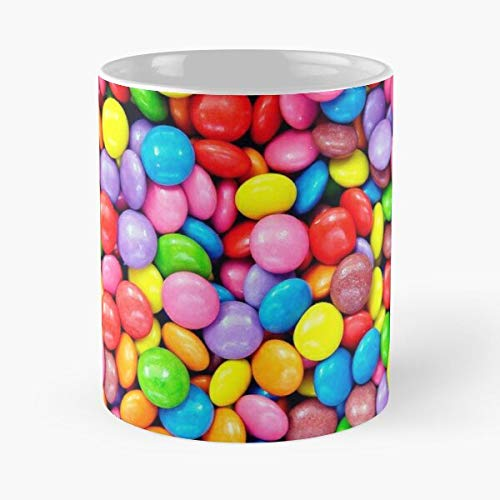 Argentwork Sweets Colors Colorful Color Rainbow Smarties Candies Sweet Best 11 oz Kaffeebecher - Nespresso Tassen Kaffee Motive
