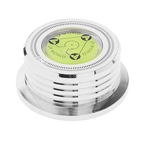 MERIGLARE Reproductor de Discos de Fidelidad Estabilizador de Peso Accesorio para Tocadiscos Abrazadera Estabilizadora de Registro para Reproductor de Vini - Cromo