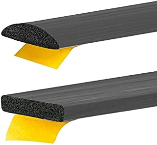Gummidichtung selbstklebend Schwarz in 6 Grössen & 2 Formen Rechteckig oder Rund zum auswählen (10x4mm, Rund)