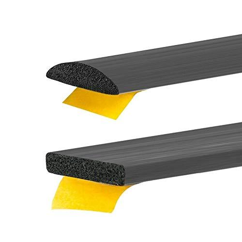 Gummidichtung selbstklebend Schwarz in 6 Grössen & 2 Formen Rechteckig oder Rund zum auswählen (10x3mm, Rechteckig)