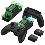 Upgrade Charging Station with 1400mAh Rechargeable Battery for Xbox Series X/S, YUANHOT Wireless Controller Charger with Battery Pack for Xbox Series X/S Controllers (NOT for Xbox One S/X Controller)