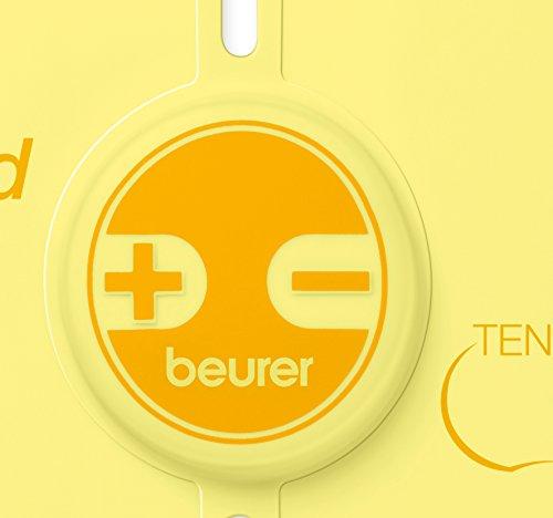 Beurer EM-10 - Mini electro estimulador para espalda 15 niveles de intensidad, color amarillo