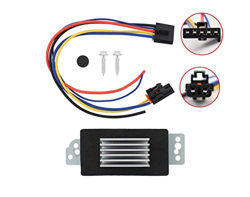 Blower Motor Resistor Speed Control Upgrade Module Auto Temp Control for 04-07 Chevrolet Trailblazer or GMC Envoy Olds Bravada 15-80655, 19329838 112822