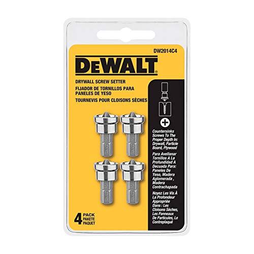 DEWALT DW2014C4 Drywall Screw Setter (4-Pack), Silver