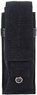 AccessoryHappy Premium Outdoor Hunting Tactical Vertical Belt Holster Pouch Fully Compatible MOLE System fits Single Pistol Magazine, Knife, Flashlight, Multi-Tool Much More