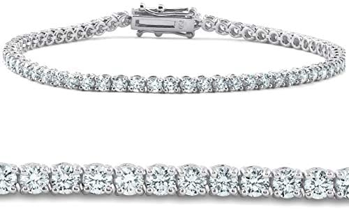 4ct Lab Grown Diamond Tennis Bracelet 14K White Gold 7 IGI Certified product image