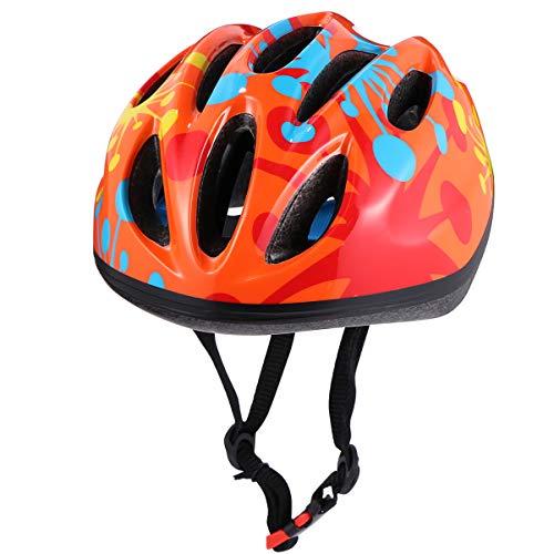 CLISPEED Casco para Niños Casco de Bicicleta para Niños Ajustable Y Duradero...