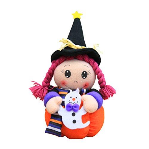 PRETYZOOM - Muñeca de Halloween para decoración de mesa de peluche (tamaño pequeño)