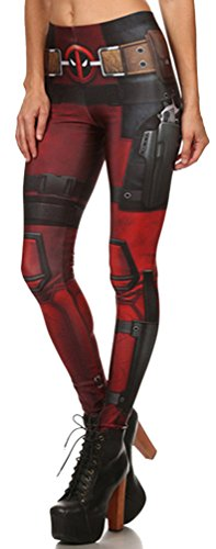 Belsen Damen Deadpool Elastic Leggings Pants Bleistifthosen (S)