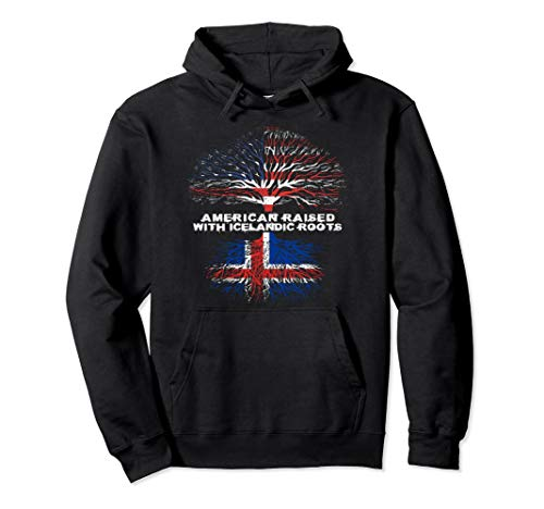 American Raised with Icelandic Roots Iceland Pullover Hoodie