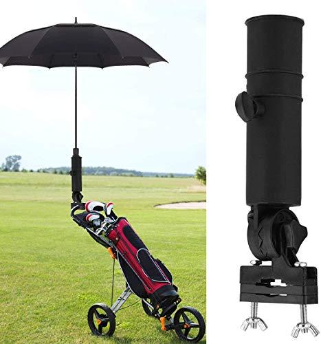 RZiioo Golf Trolley Schirmhalter Universal Golf Cart Schirmständer für Golf Cart Griffe Schwarz