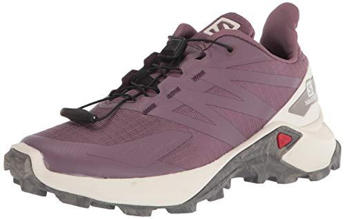 SALOMON Calzado Bajo Supercross Blast, Zapatillas de Trail Running Mujer, Flint/Va, 36 EU