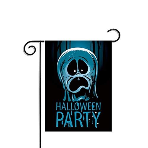 Bandera de Halloween Jardín, estilos múltiples estacional Yard bandera Jardín - Doble Cara 12' x 18' Banderas porche delantero de temporada for el patio House - Los temas más populares, Halloween, tie