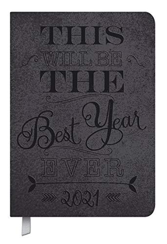 Timer Soft Touch 18 schwarz - Kalender 2021 - Korsch-Verlag - Taschenkalender A5-18 Monate von Oktober 2020 bis März 2022 - eine Woche auf 2 Seiten - Buchkalender 15 cm x 20,8 cm