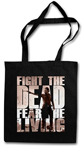 Urban Backwoods Fight The Dead Fear The Living II Hipster Bag Beutel Stofftasche Einkaufstasche