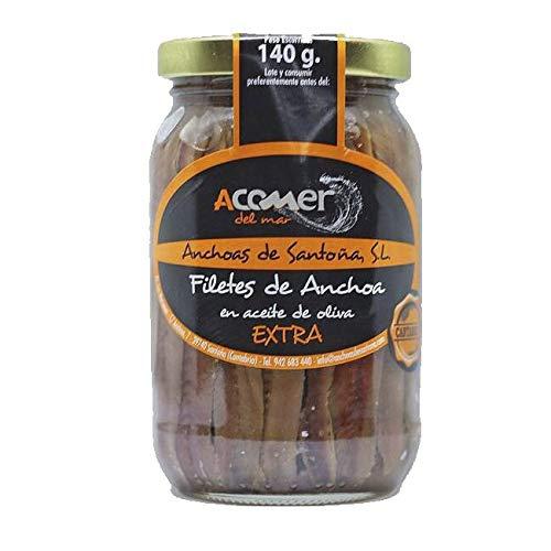 2 Frascos Anchoas de Santoña del Cantábrico 140 grs