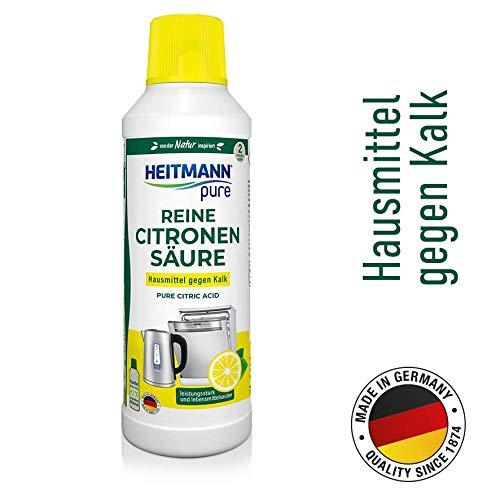 Heitmann pure Reine Citronensäure: Ökologischer Bio-Entkalker, Mittel für Küche & Bad, flüssig, 1x 500 ml