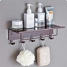 HOME CUBE® Bathroom Shelf Free Punching Wall-Mounted Storage Rack Towel Holder with Hook Storage Shelf - Random Color