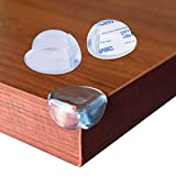 Redmoo Protector Esquinas, 12 piezas Película de Protección de Esquina de Silicona Transparente, Protector de Esquinas Para Bebes y Niños para Mesas Esquina y Muebles Anti-colisión Esquineras