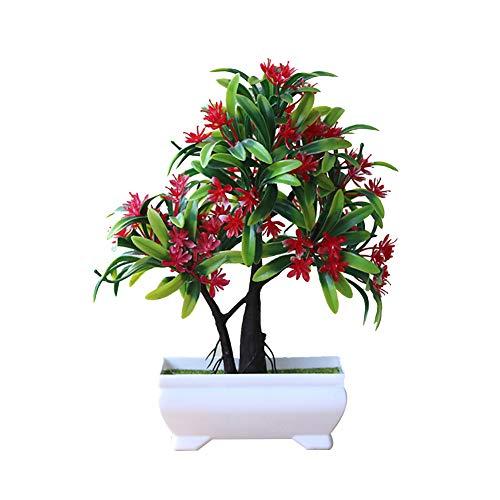 Austinstore 1 pièce Décoration de jardin artificielle Bonsaï Plante Arbre Fleur Décoration de maison 9#