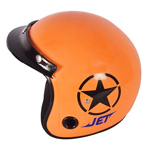 ACTIVE Jet Open Face Helmet (ORANGE)