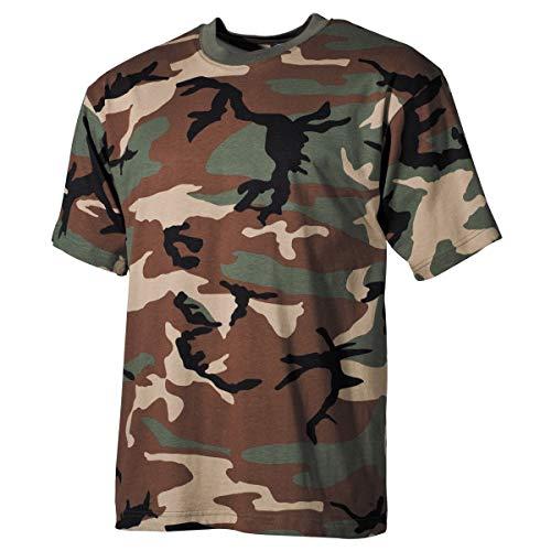 MFH 00103T US Army Herren Tarn T-Shirt (Woodland/L)