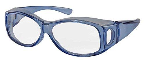 ファイン メガネ型拡大鏡 カケルーペ クリアブルー 約17×16.5×5cm (テンプルを広げた状態)cm FIN-659
