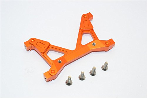 GPM Axial SCX10 II Upgrade Pièces (AX90046, AX90047, AXI90075) Aluminium Rear Chassis Stabilized Mount - 1Pc Set Orange
