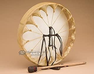 Native American Deer Hide Hoop Drum 12