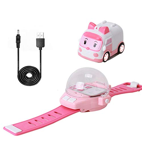 KNOSSOS RC Mini Cartoon Car Gravity Sensing RC Toy Car with Rechargeable Watch