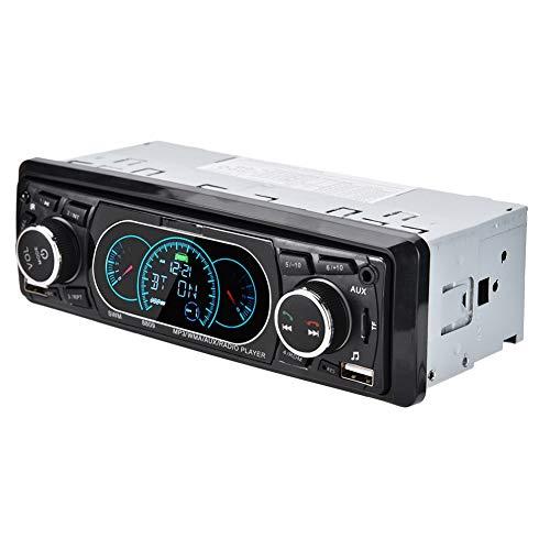 Autoradio digitale media-ontvanger, enkele DIN autoradio MP3-speler, LCD Bluetooth-audio en handsfree-functie, ingebouwde versterker van 4 x 60 W met microfoon en krachtige autoluidspreker
