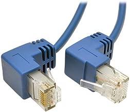 Tripp Lite Cat6 Gigabit Snagless Molded Slim UTP Patch Cable, 1 ft. Right Angle, RJ45 M/M 1' (N201-SR1-BL)