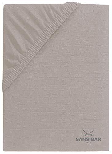 Sansibar Sansibar - Sábana bajera ajustable (140/160 x 200 cm), color gris