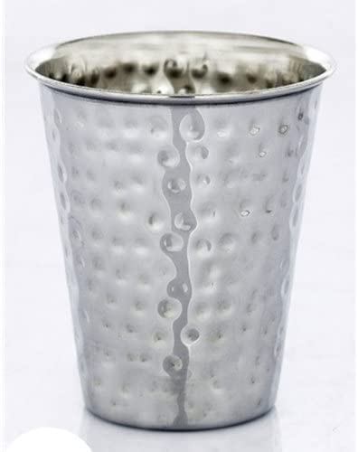 Stainless Wholesale Steel Hammered Kiddush Cup At the price of surprise