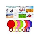 Guanghuansishe Kinder Schneeflitzer Schneerutscher Kunststoff Sand Gras Rutscher Schnee Schlitten Rodel Plastik Bob mit Handgriff für Kinder Erwachsene Winter Ski Board Zubehör