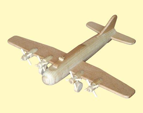 Avion Bombardier B17 en bois naturel