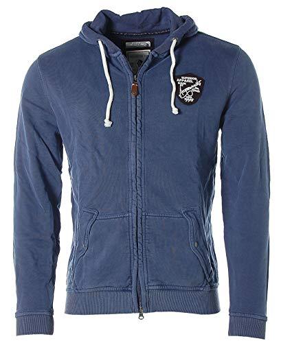 ARQUEONAUTAS® Sweatjacke Sweat Jacke mit Kapuze -Superior Apparel- Blau XXL