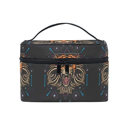 Cool Digital Tiger Trousse de Maquillage Femmes Voyage Sac à Cosmétique Cas Trousse de Toilette Bag