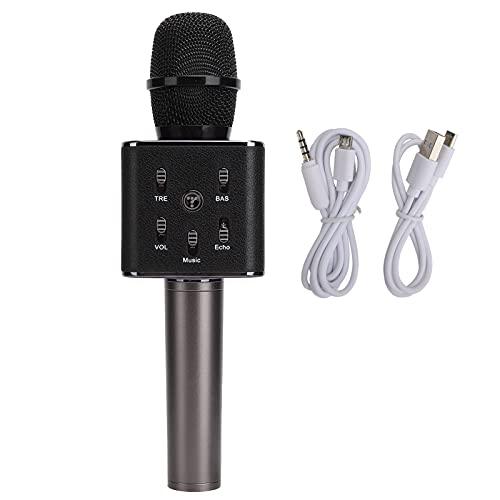Qinyayoa Micrófono inalámbrico, Altavoces Dobles Izquierdo y Derecho, micrófono de Mano con diseño de diafragma Frontal para el hogar y el Club
